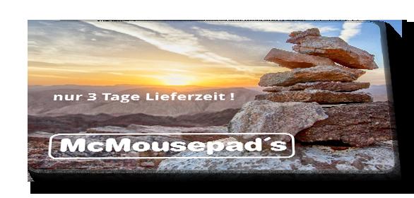 bedruckte mousepads bedrucken kunden beispiele mit ihr logo firmenkunden 3-tage lieferzeit