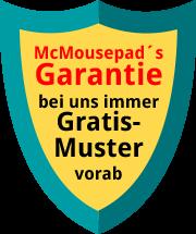 Garantie Gratis-Muster vorab kostenlos Mc Mousepds